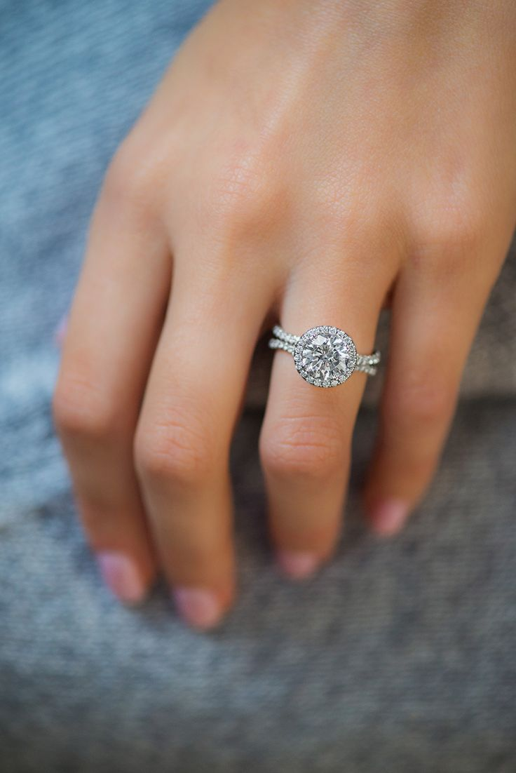 110 best the bling images on pinterest engagements engagement uneek fine jewelry round diamond halo engagement ring with pave double shank in 14k aiddatafo Choice Image