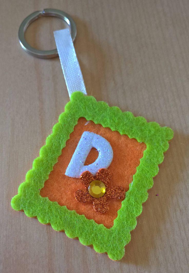Portachiavi personalizzabile in Feltro Bomboniera Idea Regalo di SaraHandmadeIT su Etsy