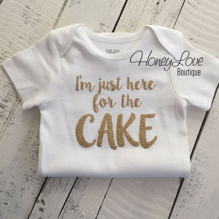 I'm just here for the CAKE! Silver or Gold glitter shirt bodysuit, First Birthday, 1st Cake Smash baby girl infant toddler wedding bridal party by HoneyLove Boutique