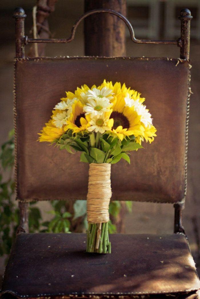 toller hochzeitsstrauß brautstrauß schöne ideen hochzeitsdeko hochzeitsdekoration mit sonnenblumen
