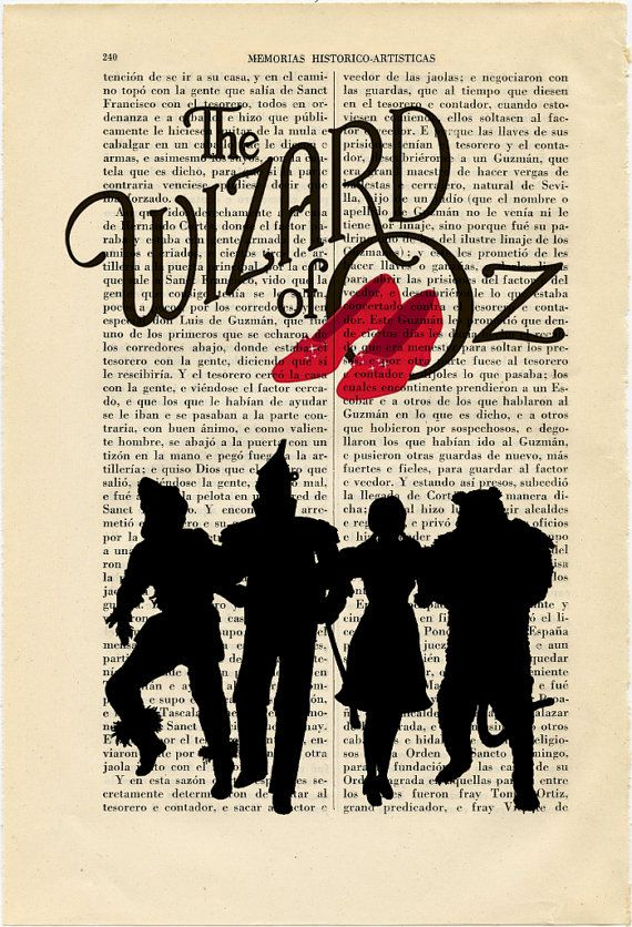 Wizard of Oz Silhouettes Print Dorothy Red by ThePurpleHamster