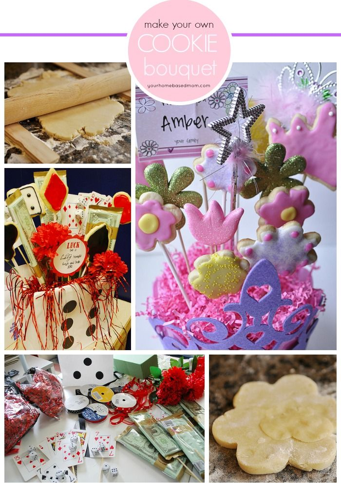 A great step by step tutorial on how to make your own cookie bouquet and save lots of money!