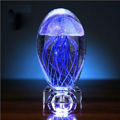 Jellyfish Glow Ball Crystal Small Night Light