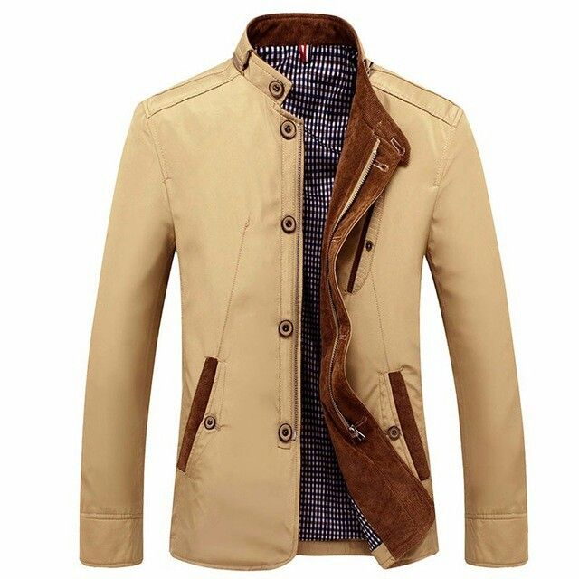 Mens Casual Business Slim Fit Zipper Single-breasted Stand Collar  Personality Fashion Jacket at Banggood