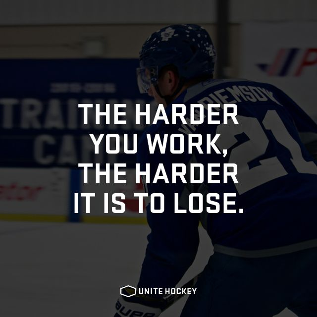 The harder you work, the harder it is to lose. #quote #motivational
