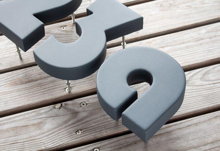 die besten 25 hausnummer anthrazit ideen auf pinterest. Black Bedroom Furniture Sets. Home Design Ideas