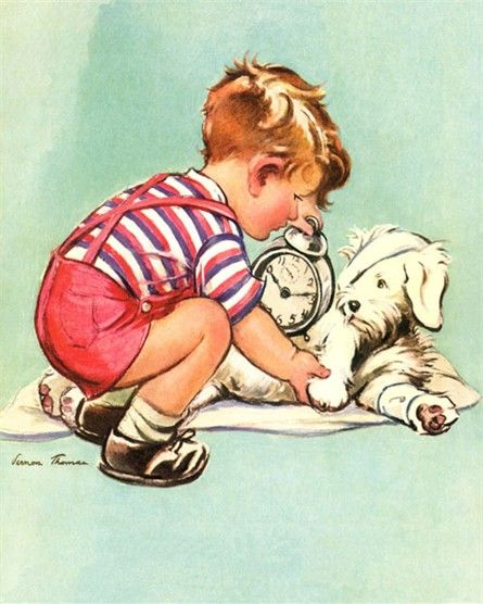The Little Veterinarian Vintage Artwork is perfect for decorating your animal lover's bedroom!   Delight your kid's room or nursery with this enchanting vintage wall art!