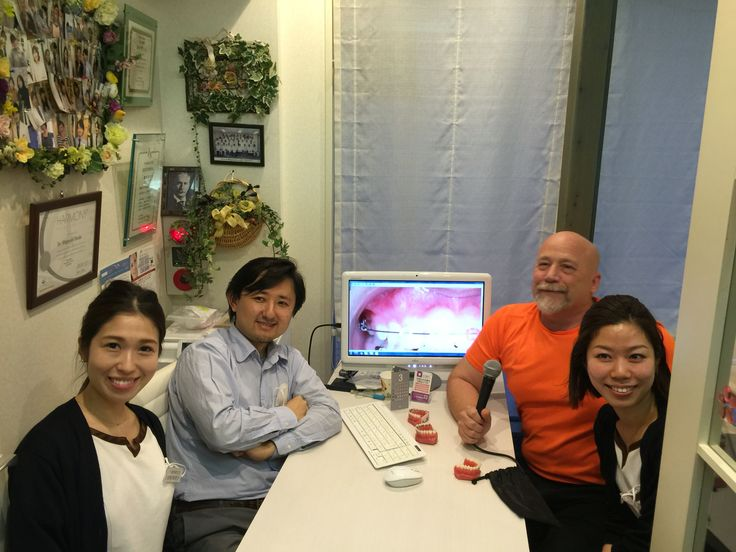 We are in Tokyo, Japan podcast interviewing orthodontist Dr. Shigeyuki Okuda and his two dental hygienists Dh. Mariko Sato and Dh. Teruyo Mitsuoka. They are open 11:00am - 8:00pm Monday, Tuesday, Wednesday, Friday, and Saturday and are closed Thursday and Sunday.  Braces cost 800,000 Yen which is about $7000 USD. They start about 10 cases per month. About 80% of there patients are female and about 70% choose lingual braces.