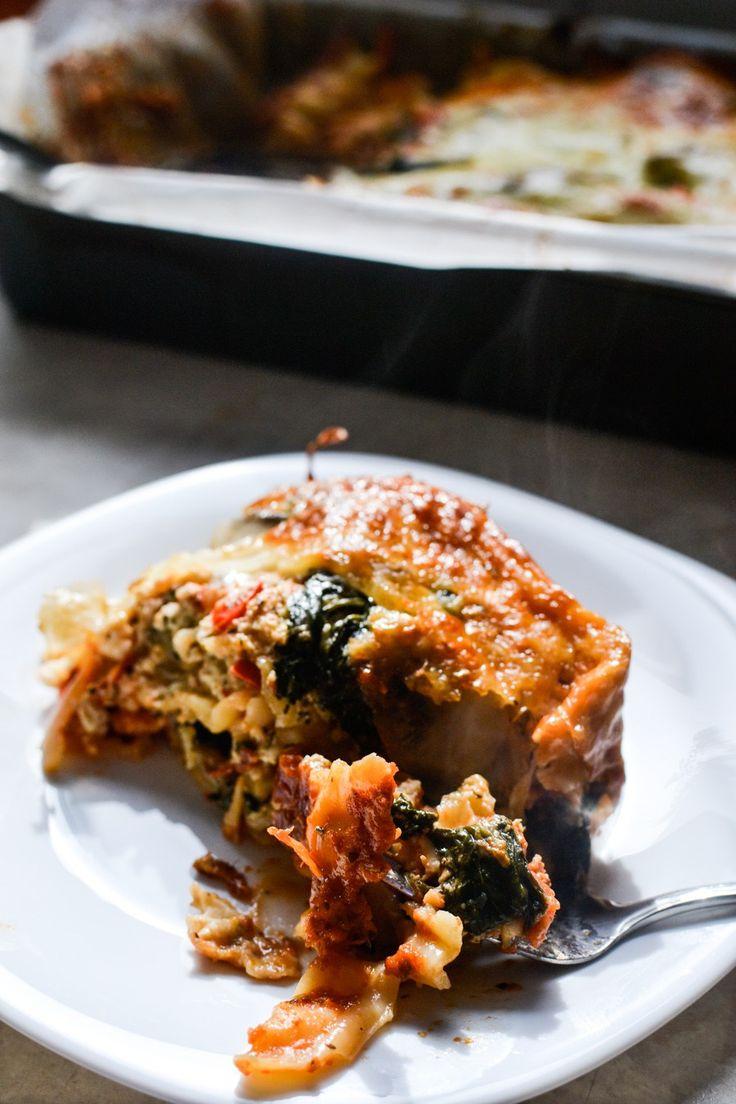 Mushroom and Bell Pepper Lasagna