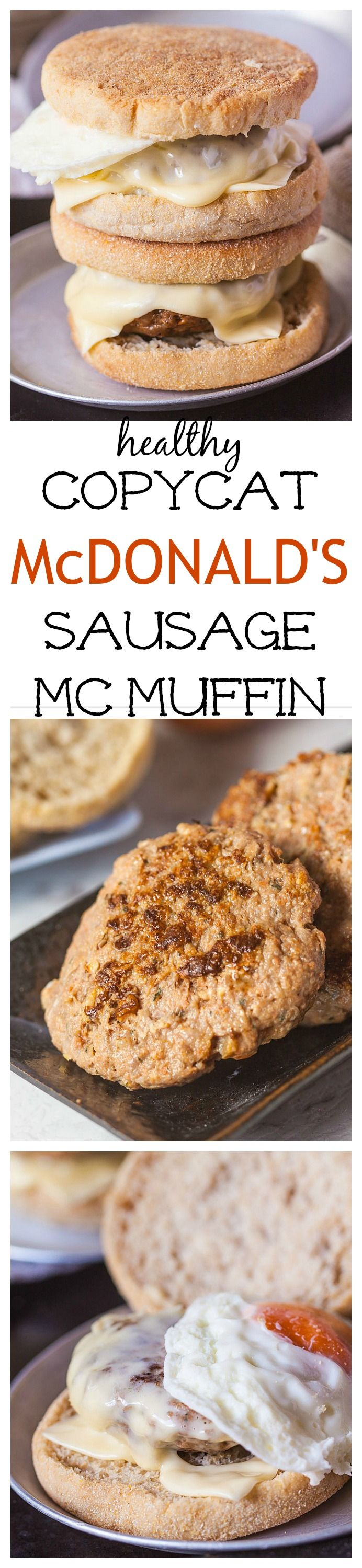 Copycat McDonalds Sausage McMuffin-A healthier take on it- GF, Paleo + whole30 too!