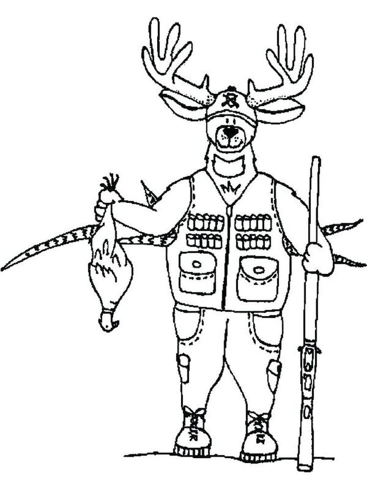 Free Printable Hunting Coloring Pages Pdf Coloring pages