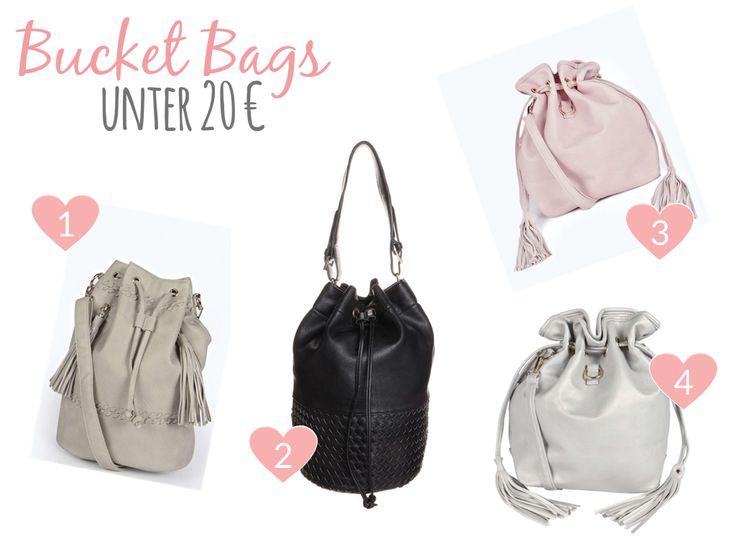 Bucket Bags under 20 € / Beuteltaschen unter 20 €