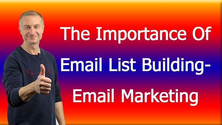 The Importance Of Email List Building-Email Marketing https://youtu.be/h1XzYZlTVzA
