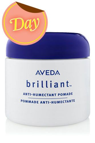 "One Of L.A.'s Top Hair Gurus Dishes On Her 28 Beauty Essentials -      Aveda Brilliant Anti-Humectant Pomade, $19, available at Aveda    ""I've used this forever, and each jar lasts me nearly a year. I have naturally curly hair, so when it's humid, I need a little help to tame the automatic frizz that pops up! The tiniest bit goes a long way."""
