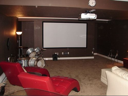 Inspirational Finished Basement Home theater