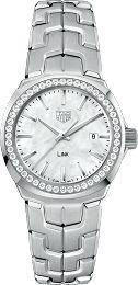 Link 100 M - 32 mm White MOP Dial & Diamond Bezel WBC1314.BA0600 TAG Heuer watch price - TAG Heuer