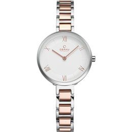 OBAKU Vand - peach // rose gold and stainless steel watch