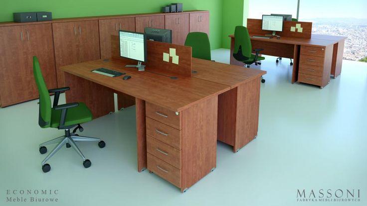 Układy biurek biurowych tanie Economic