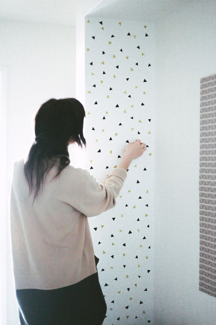 Best 25 masking tape wall ideas on pinterest diy washi tape a month of home diy confetti wall decals amipublicfo Choice Image