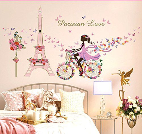 $2.99   Lovely Flower Fairy Girl Butterfly Patterns DIY Wall Sticker For  Baby Girls Nursery Rooms Decoration Flower Fairy Wall Stickers SK9006     You Can ... Part 53