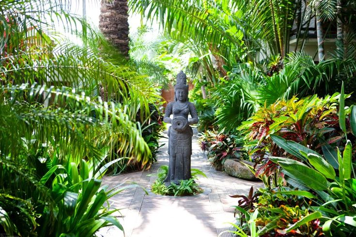 Baoase luxury resort curacao tropical paths pinterest for Bali landscape design