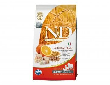 Shop  #NaturalandDelicious branded Low Grain Codfish and Orange #AdultDogs #DryFoods Online at Petwish.in available with home delivery across in India