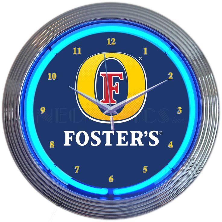 """15"""" Fosters Beer Neon Clock"""