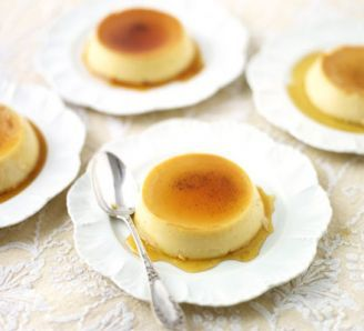 Crème caramel: 4 hours chilling in a fridge!