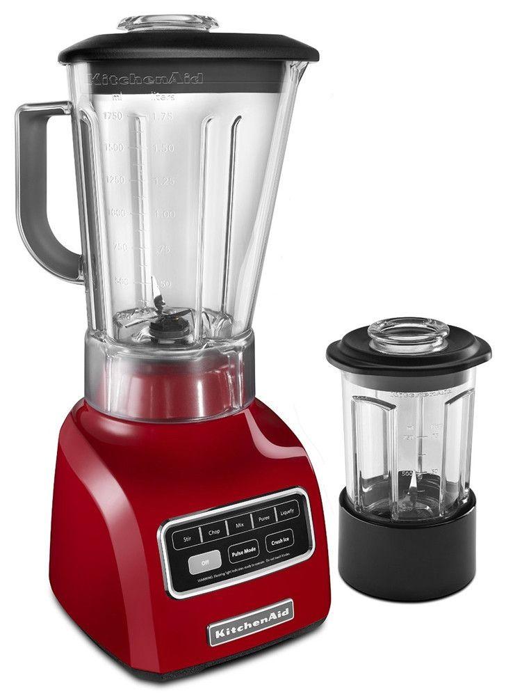 KitchenAid Red Blender.