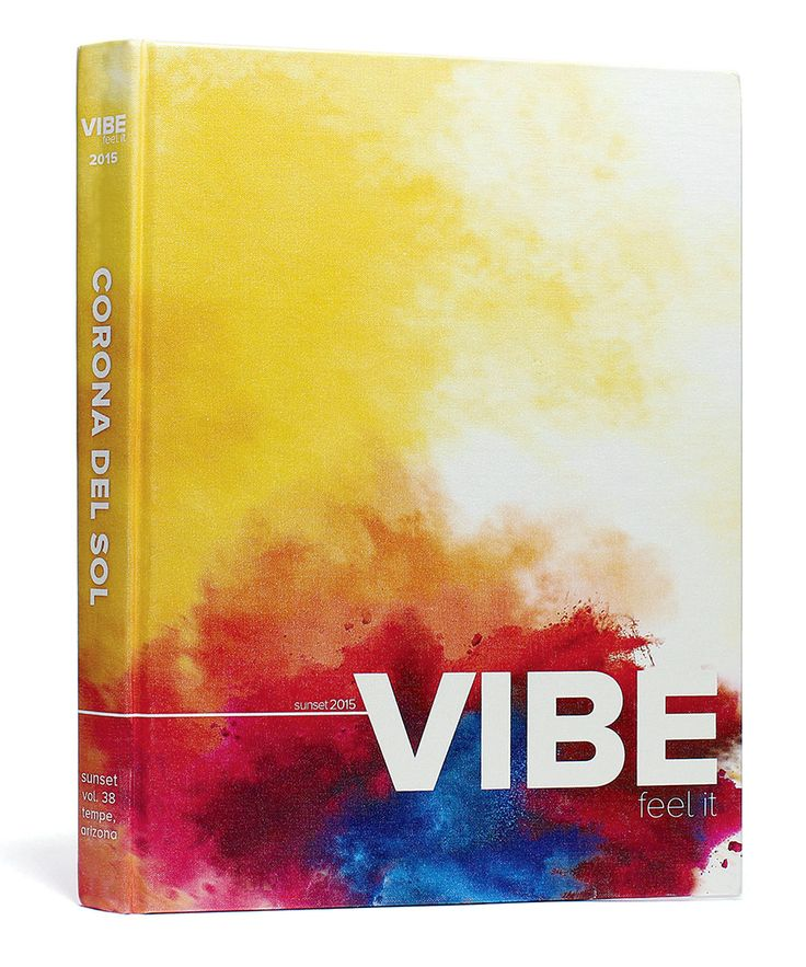 Corona Del Sol High School (Tempe, AZ) | 2015 Yearbook Cover | Theme: VIBE. Feel It | Printed by Herff Jones