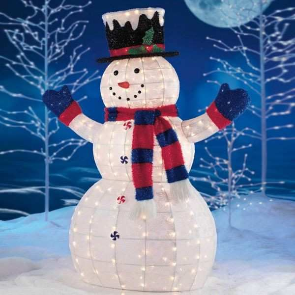 Image Result For Outdoor Lighted Snowman Costco Snowman Outdoor Decorations Snowman Christmas Decorations Outdoor Christmas Decorations