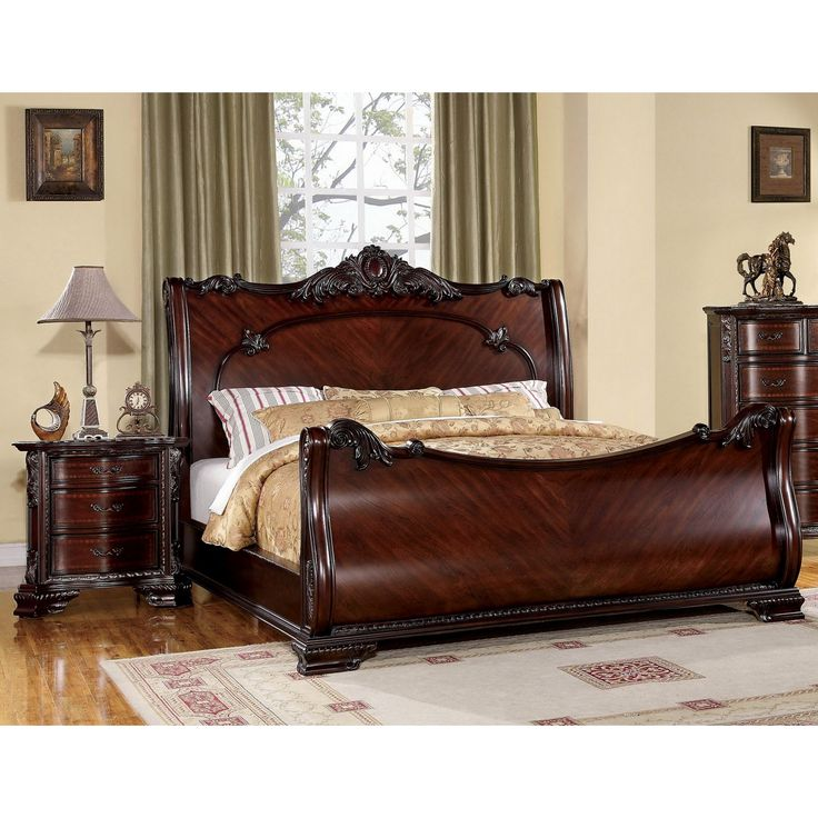 Nice Bedroom Sets Bedroom Ideas Brown Walls Bedroom Colors With White Trim Gray Master Bedroom Design Ideas: Best 25+ Cherry Sleigh Bed Ideas On Pinterest