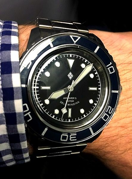 Lots of mods here. Dagaz dial, new hands, non-indexed ...