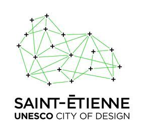 City of Design Logo Branding Black / green http://www.grapheine.com/divers/brand-design-st-etienne-city-of-design-unesco