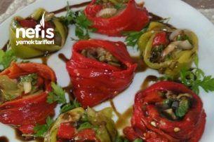 Közlenmiş Sebze Bahçesi(Patlıcan,Biber,Soğan)Lezzeti Tarifi
