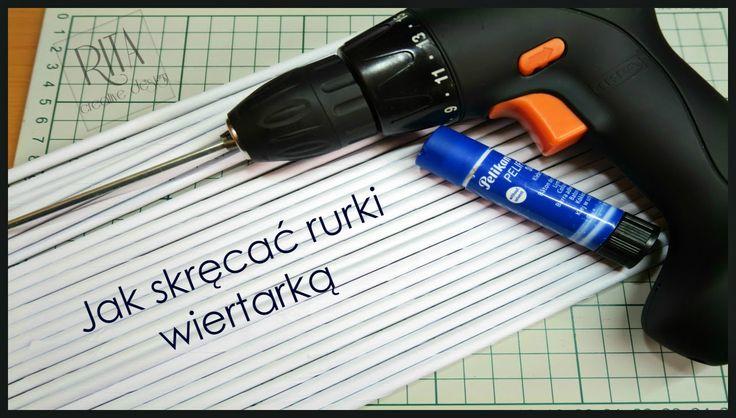 JAK SKRĘCAĆ RURKI WIERTARKĄ | wiklina papierowa | πώς να φτιάξετε χάρτιν...