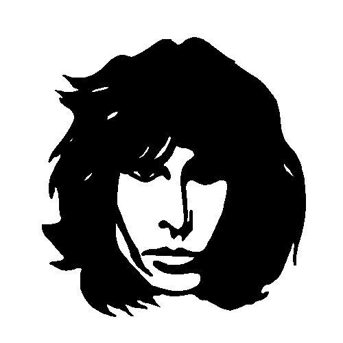 Jim Morrison Die Cut Vinyl Decal Pv557 흑백그림 ㅡ실루엣 Pinterest