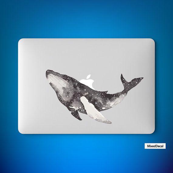 macbook Pro decal Air sticker Retina Partial skin Whale