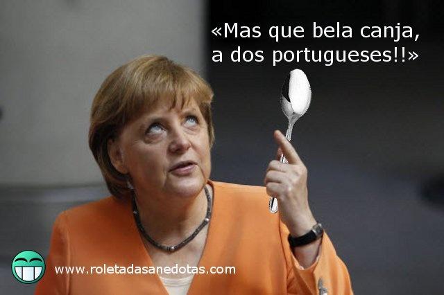 A maior canja do mundo para enfiar pela goela da gorda da Merkel