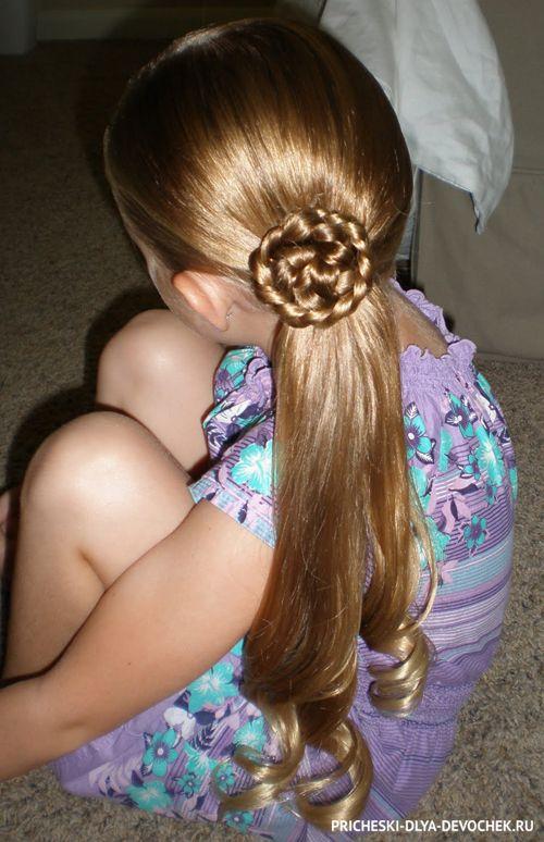 Легкая и быстрая детская прическа для длинных волос