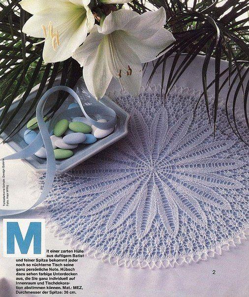 Delicadezas en crochet Gabriela: Carpeta finísima en dos agujas