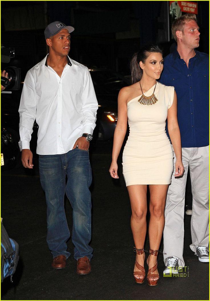 miles austin and kim kardashian   Kim Kardashian and Miles Austin take a walk to a yacht to celebrate ...