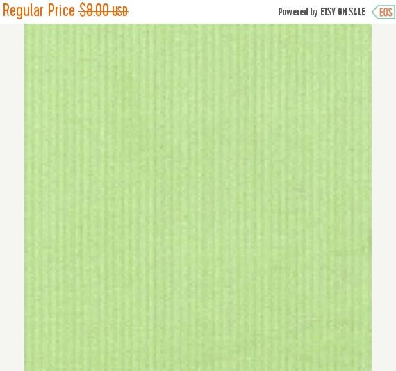 ON SALE - 10% Off Fabric Finders Lime Green Fine Wale Corduroy Apparel Clothing Fabric By The Yard