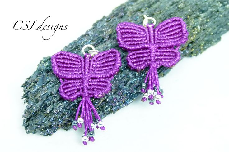 In this tutorial I show you how to make a pair of butterfly macrame earrings to match the butterfly macrame bracelet I made previously. Please feel free to g...