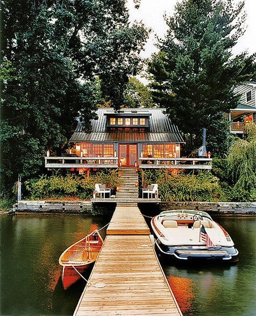 Woodsy lake front cabin in upstate New York