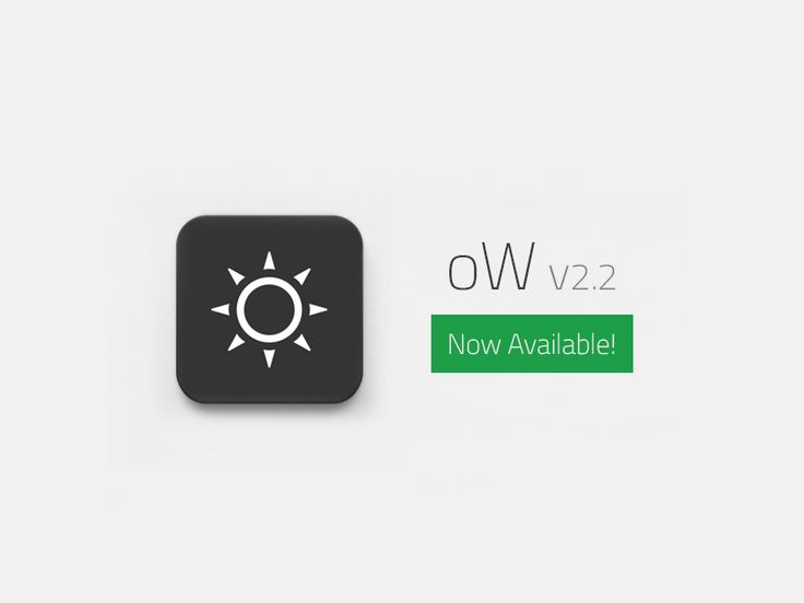 Weather App oW 2.2 Now Available! by Artem Svitelskyi. We are happy to announce new version of #oW! New awesome features are waiting for you! Share #forecast into Facebook, Instagram, Twitter, VKontakte! Let your friends know about upcoming #weather! Download oW! Link to AppStore — https://itunes.apple.com/us/app/ow/id596100553?ls=1=8