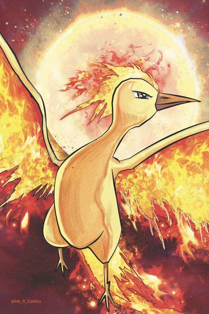 25 best ideas about pokemon moltres on pinterest real pokemon games - Pokemon Moltres Colored Colorworld By Trevor Scott Ink_it_comics Pokemon
