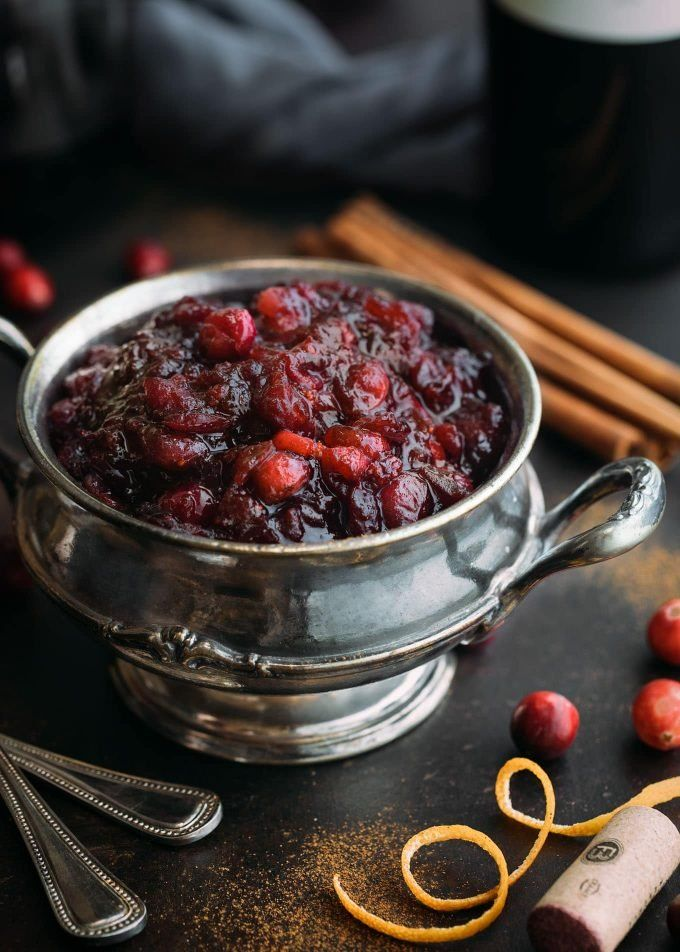 Mulled Wine Cranberry Sauce Recipe Cranberry Sauce Recipe Cranberry Recipes Cranberry Sauce