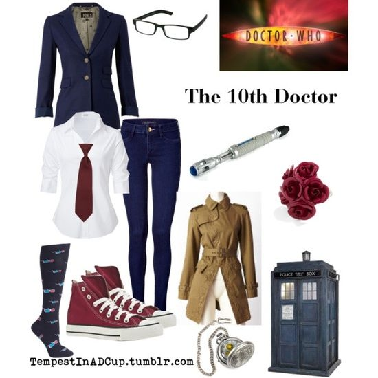 i like this outfit combo the 10th doctor doctor who outfit. Maybe for Halloween?