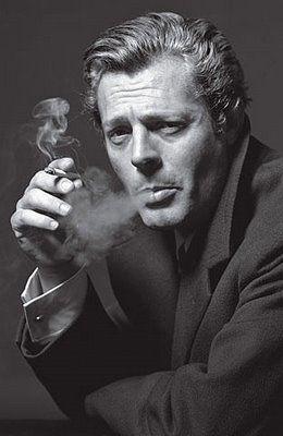 Marcello Mastroianni, italian film actor famous for his role as a journalist in the film La dolce vita.